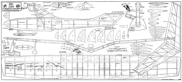 Gull model airplane plan