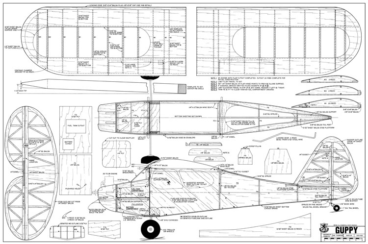 Guppy model airplane plan