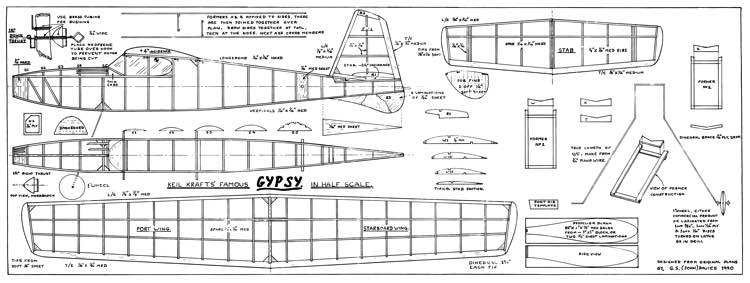 D h 82a tiger moth plans aerofred download free model for Half size set of plans