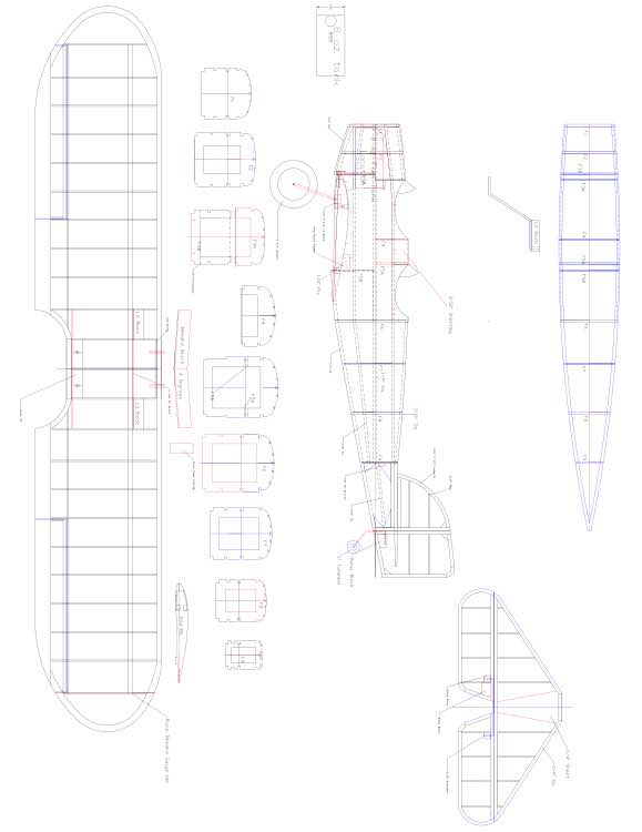 HEINKEL18 Model 1 model airplane plan