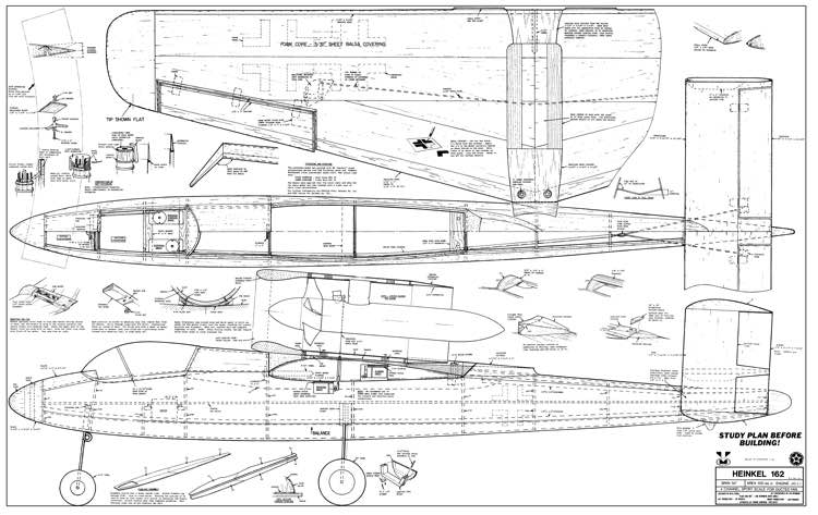 heinkel 162 plans aerofred download free model