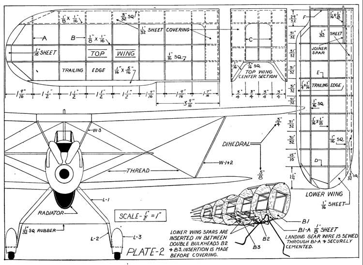 Heinkel Pursuit p2 model airplane plan