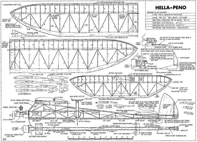 Hella Peno-FM-10-76 model airplane plan