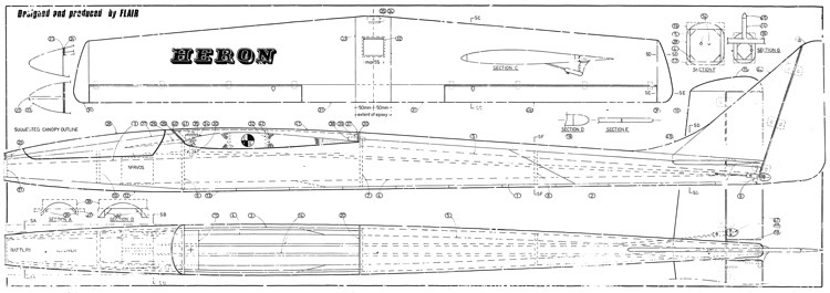 Heron Flair model airplane plan