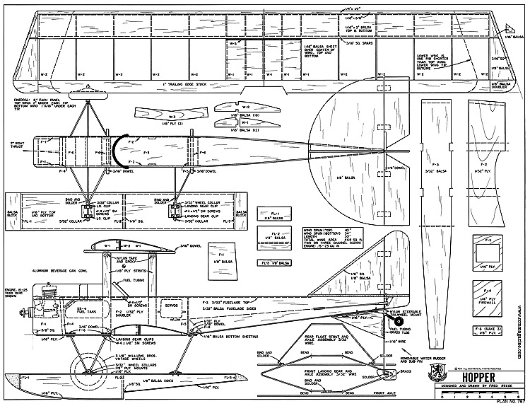 Hopper-RCM-01-80 787 model airplane plan