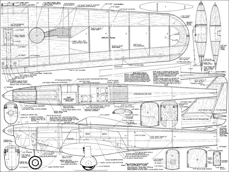Interceptor deBolt model airplane plan