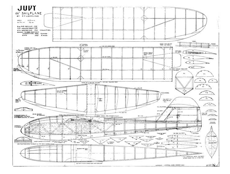 JUDY model airplane plan