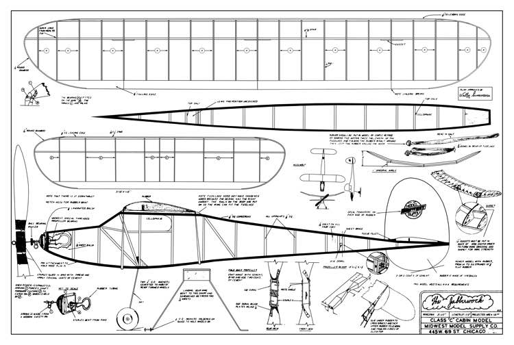 Jabberwock model airplane plan