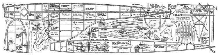 Jaguar 1949 Air Trails model airplane plan