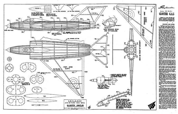 Javelin model airplane plan