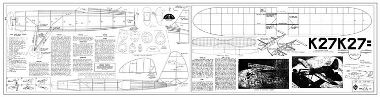 Jimmie Allen Silver Streak 32in model airplane plan