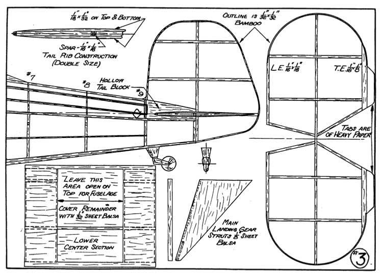 Jungmeister p3 model airplane plan