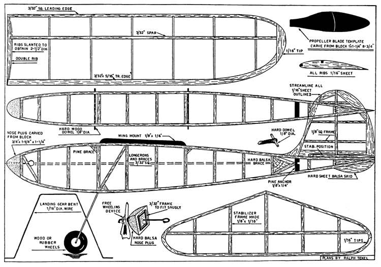 Junior Miss model airplane plan