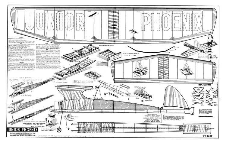 Junior Phoenix model airplane plan