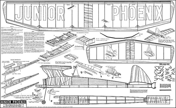 Junior Phoenix Zaic model airplane plan