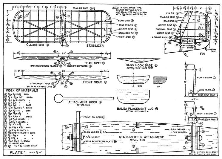KG-3 model airplane plan