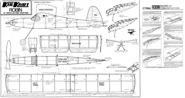 KK-Robin-23 model airplane plan