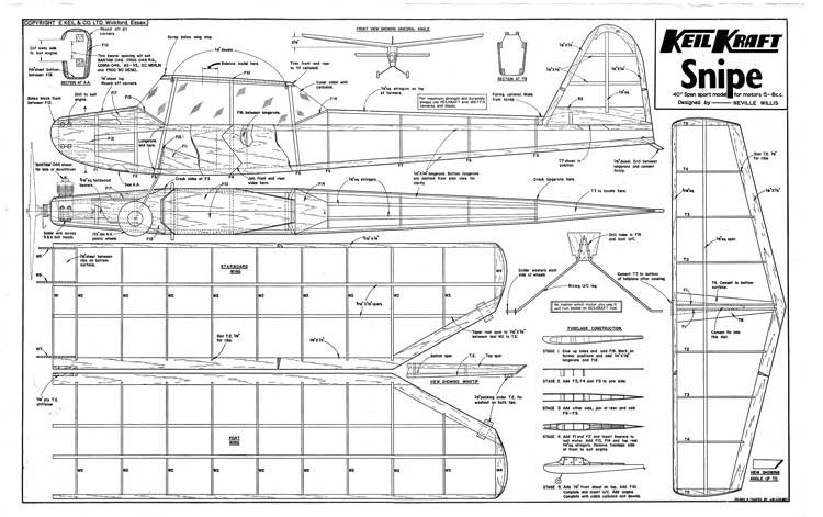 KKSnipe(1) model airplane plan