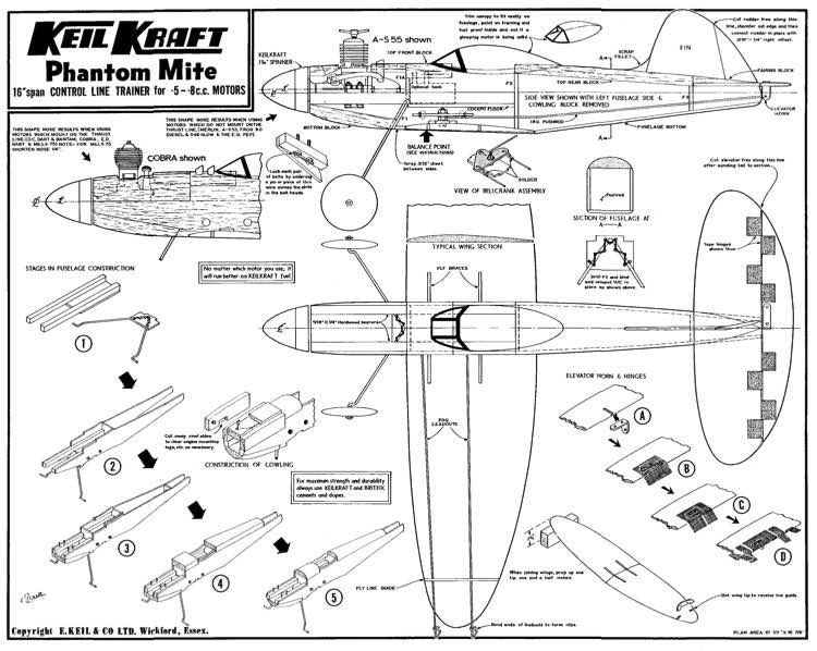 KK Phantom Mite Later model airplane plan