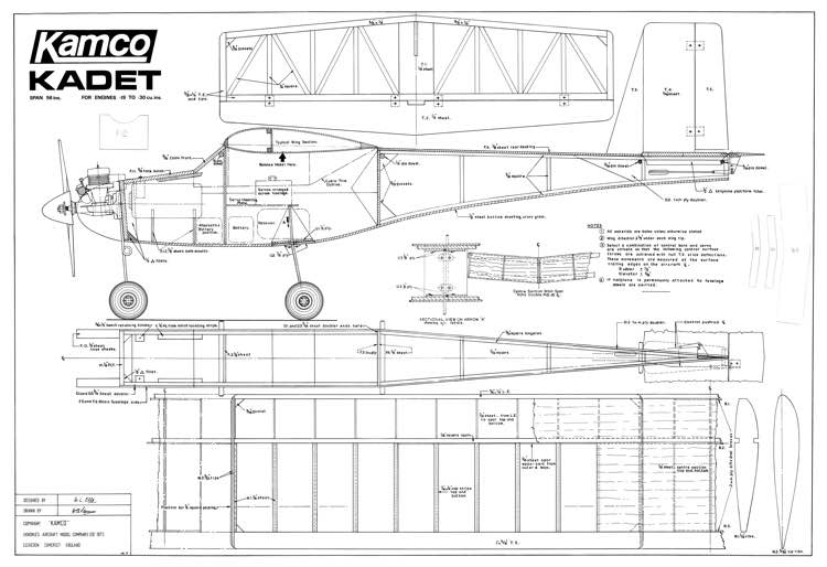 Kadet Kamco model airplane plan