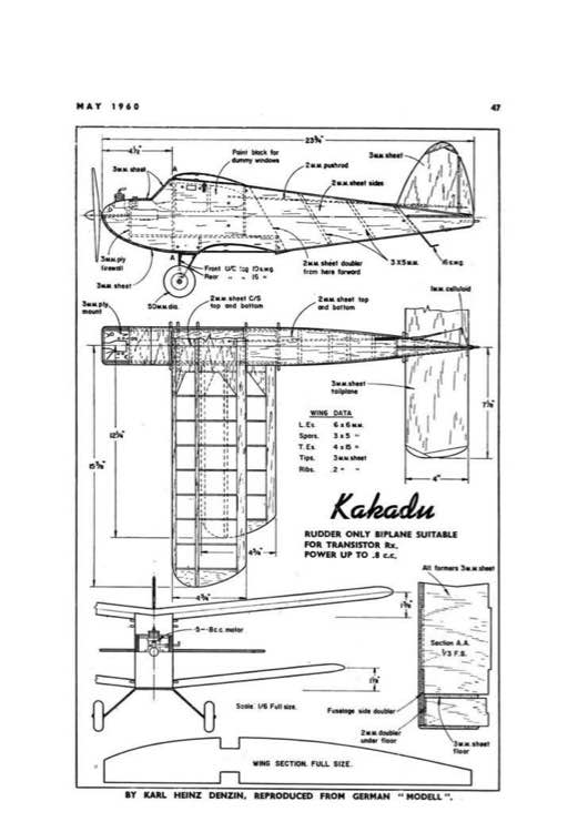 Kakadu PDF model airplane plan