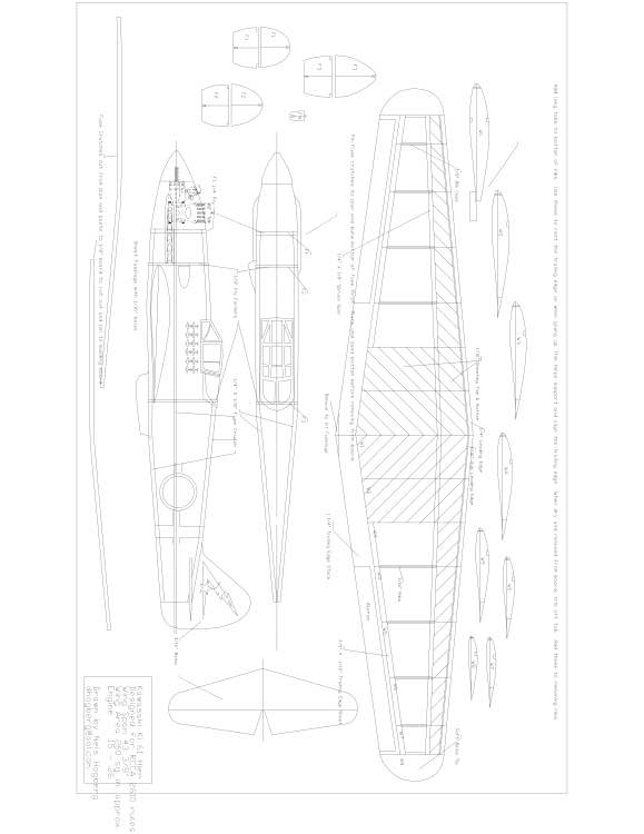 Kawasaki Ki61 Model 1 model airplane plan