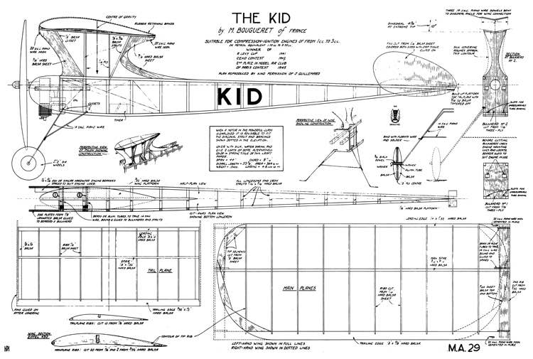 Kid model airplane plan