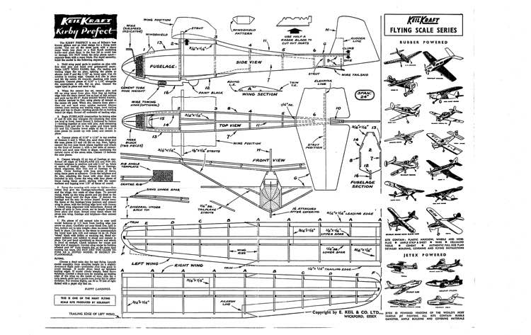 Kirby Prefect model airplane plan