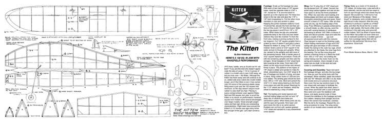 Kitten model airplane plan