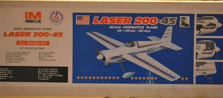 Laser 200 model airplane plan
