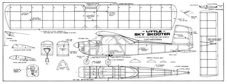 L Sky Skooter model airplane plan