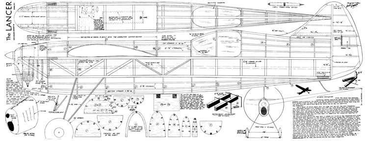 Lancer 72in model airplane plan