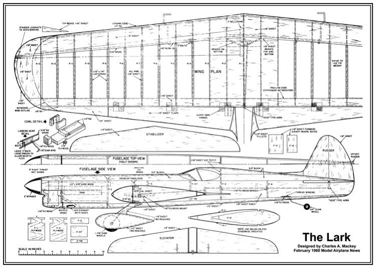 Lark model airplane plan