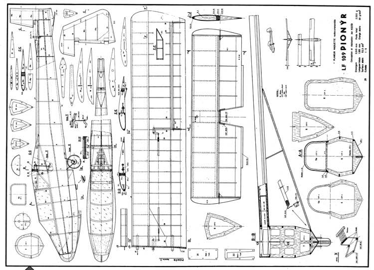 Le 109 Pionyr model airplane plan