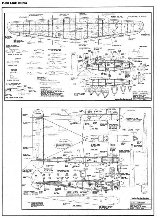 Lightning model airplane plan