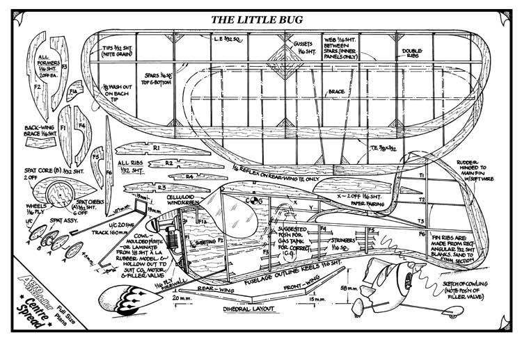 Little Bug model airplane plan
