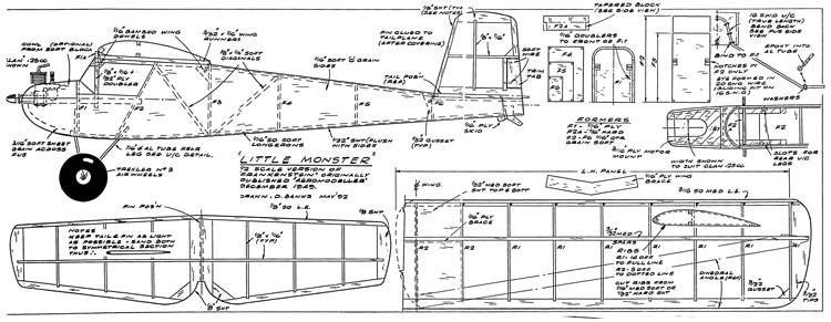 LittleMonster model airplane plan