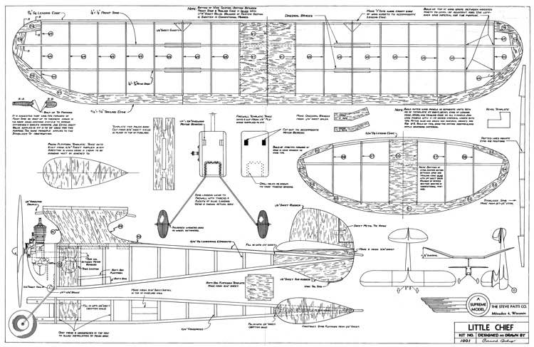 Little Chief 36in model airplane plan