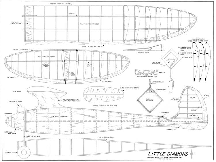 Little Diamond model airplane plan