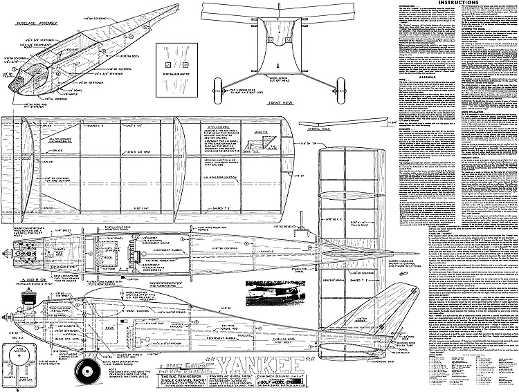 Live Wire Yankee model airplane plan