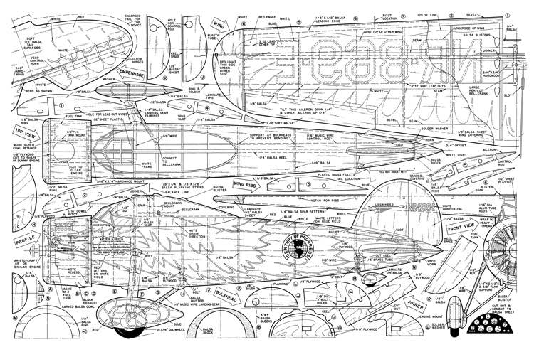 Lockheed-Vega AM 04-65 model airplane plan