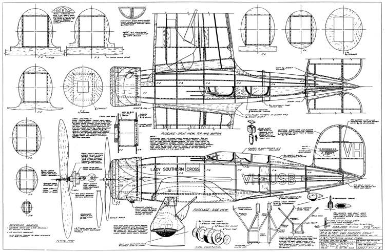 Lockheed Altair model airplane plan