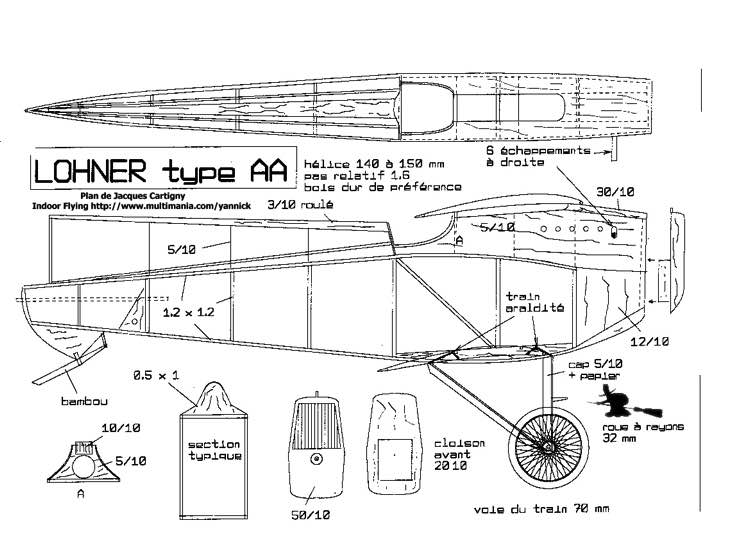 Lohner AA p1 model airplane plan