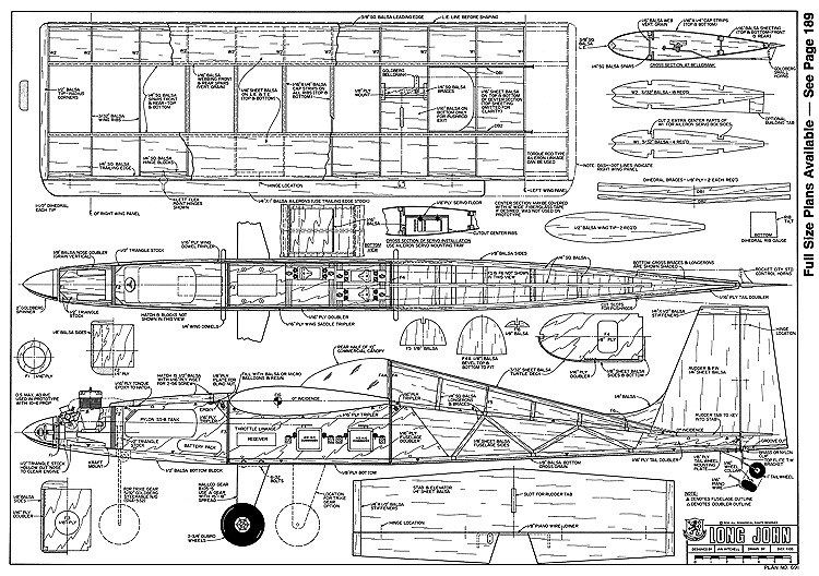 Long John-RCM-07-77 691 model airplane plan