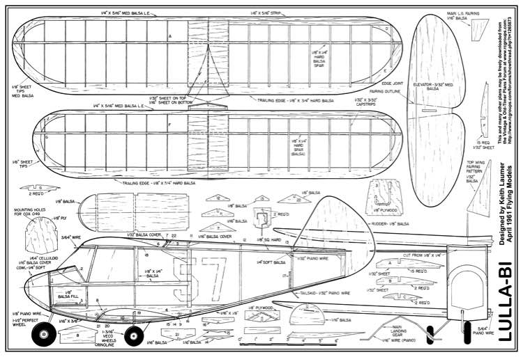 Lulla-Bi model airplane plan