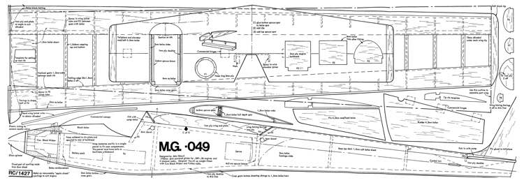 MG-049 model airplane plan