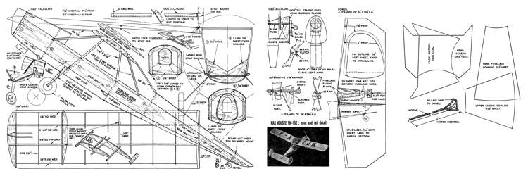 MH 152 model airplane plan