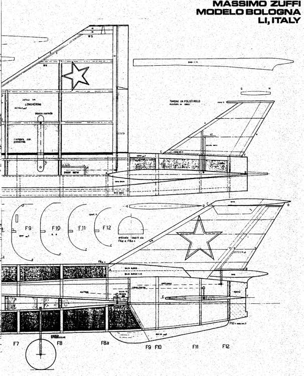 MIG-21-1 model airplane plan