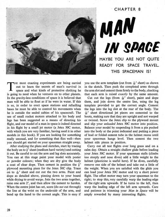Man in Space model airplane plan