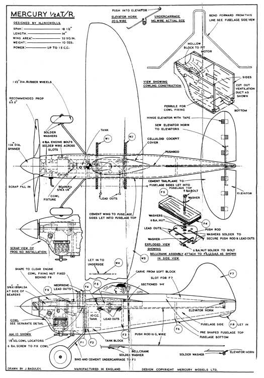 Mercury 12A TR model airplane plan